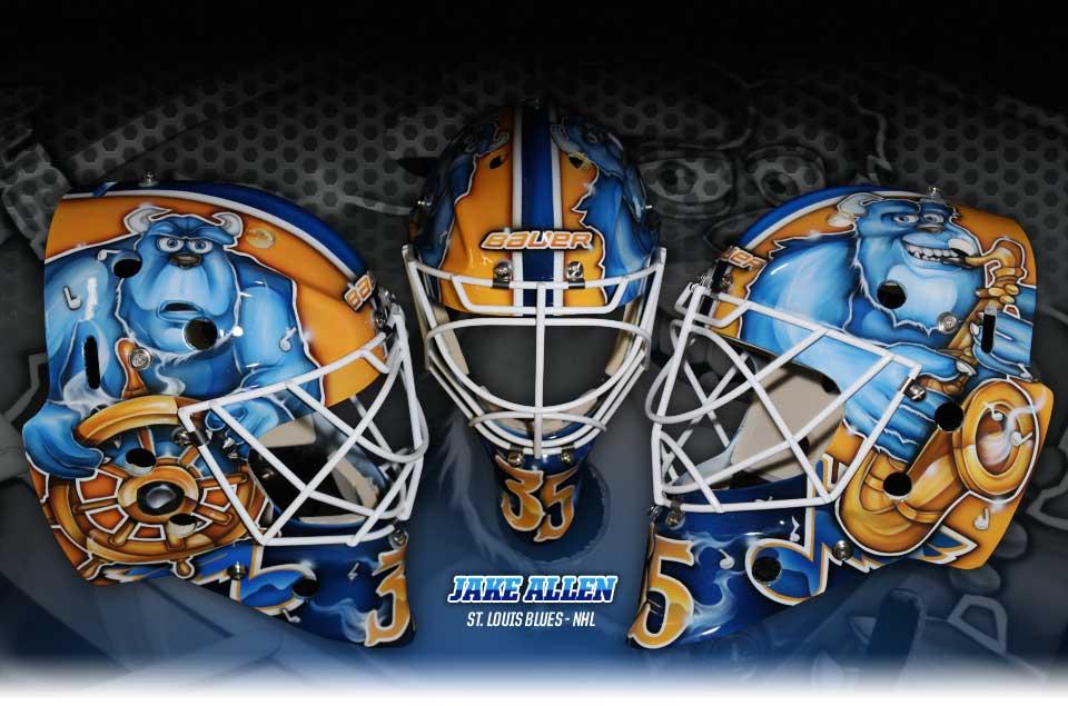 Diel Airbrush Goalie Mask Feature Four